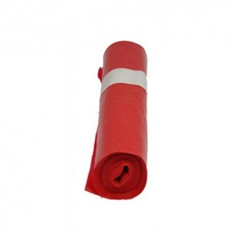 Afvalzak rood HDPE 58x100 T23 (rol à 20 stuks)