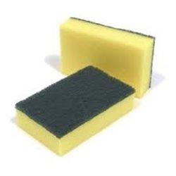Schuurspons professional geel/groen | 10 stuks