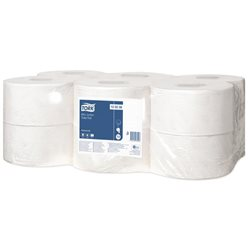 Tork Mini Jumbo navulling toiletpapier 12 rollen (12 stuks)